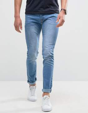 Loyalty And Faith Skinny Fit Jeans with Light Abbrasions in Light Wash