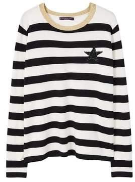 Violeta BY MANGO Striped appliqu?? sweater