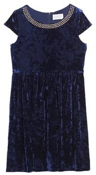 Blush by Us Angels Girl's Velvet Dress