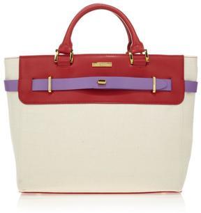 IMAN Global Chic Luxury Resort Signature Linen Handbag