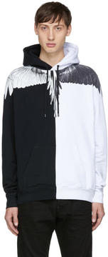 Marcelo Burlon County of Milan Black and White Aish Hoodie
