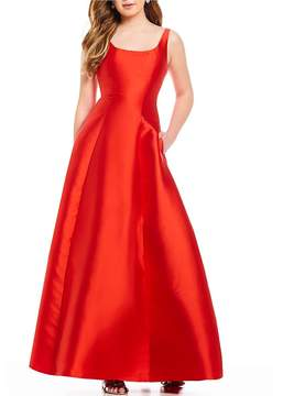 B. Darlin Sleeveless Scoop Neck Ball Gown