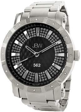 JBW 562 Black Crystal Dial Diamond Bezel Stainless Steel Men's Watch
