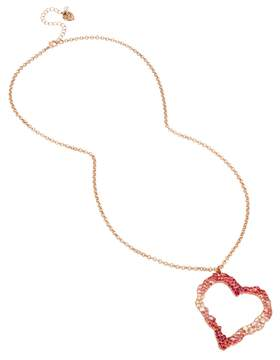 Betsey Johnson NOT YOUR BABE LONG HEART PENDANT