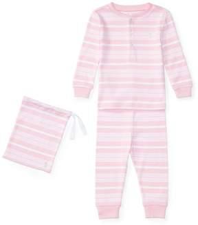 Ralph Lauren | Striped Cotton Sleep Set | 6-12 months | Pink