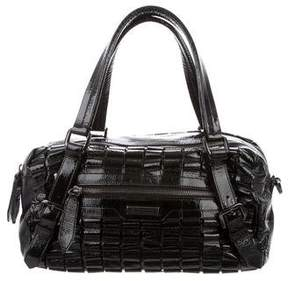 Burberry Lowry Ruffled Patent Leather Tote