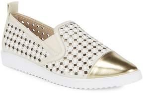 Karl Lagerfeld Paris Women's Carrie Laser-Cut Diamond Sneakers