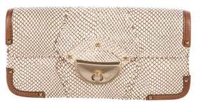 Botkier Embossed Leather Clutch