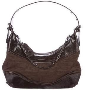 Just Cavalli Monogram Shoulder Bag