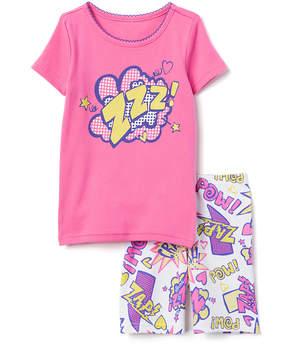 Gymboree Pink 'Zzz' Superhero Pajama Set - Infant, Toddler & Girls