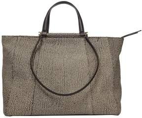 Borbonese Large Leather Shopping Bag