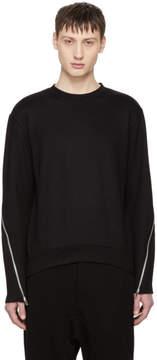 McQ Black Zip Detail Sweatshirt