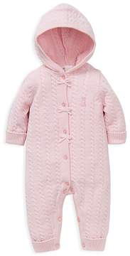 Little Me Girls' Girl Cable Knit Coverall - Baby
