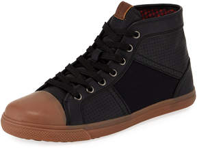 Ben Sherman Men's Mason High-Top Mixed-Media Sneakers