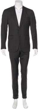 Isaia Gregory Striped Wool Suit