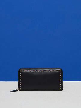 Diane von Furstenberg Zip-Around Studded Wallet
