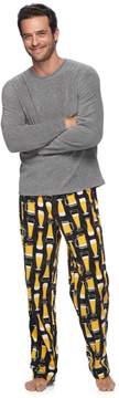 Croft & Barrow Men's Solid Tee & Plaid Microfleece Lounge Pants Set