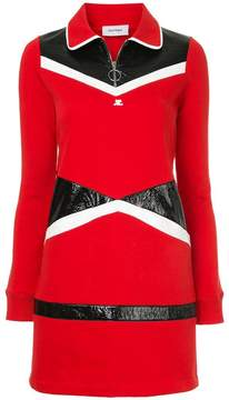 Courreges vinyl sweat dress