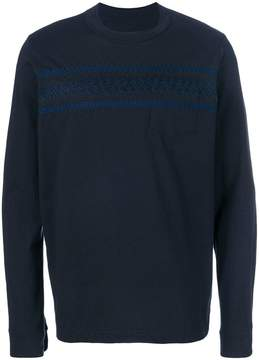 Sacai embroidered longsleeved jumper