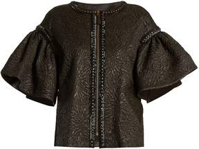 Andrew Gn Bell-sleeved embellished cloqué jacket