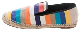 Celine Striped Canvas Espadrilles