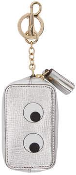Anya Hindmarch Silver Eyes Coin Purse Keychain
