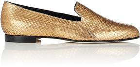 Manolo Blahnik Women's Diplas Metallic Snakeskin Loafers