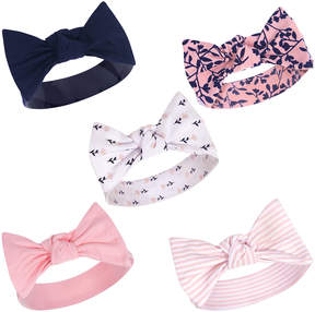 Luvable Friends Pink & Purple Foliage Bow Headband Set