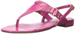 Lauren Ralph Lauren LAUREN by Ralph Lauren Womens Valinda Leather Open Toe Casual T-Strap Sandals