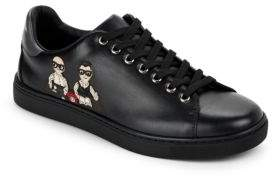 Dolce & Gabbana Patch Leather Low Top Sneakers