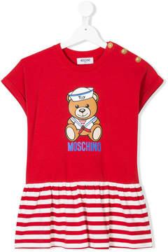 Moschino Kids bear print ruffled T-shirt