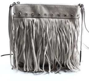 MICHAEL Michael Kors Suede Billy Fringe Small Messenger - Cement - GRAYS - STYLE