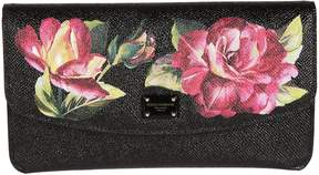 Dolce & Gabbana Floral Print Wallet - BLACK - STYLE