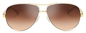 Tory Burch T-Print Aviator Sunglasses