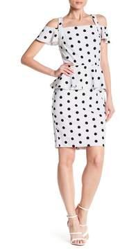 ECI Cold Shoulder Polka Dot Dress