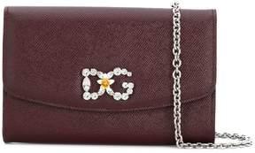 Dolce & Gabbana logo embellished crossbody bag