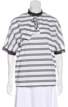 Stella Jean Striped Dolman Sleeve Top