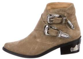Toga Pulla Western Buckle Ankle Boots