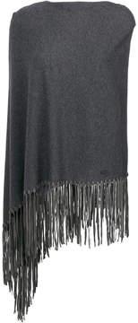 Armani Collezioni fringed cape scarf