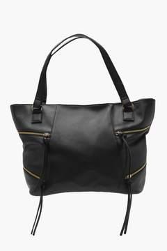 boohoo Crosshatch Zip Detail Day Bag