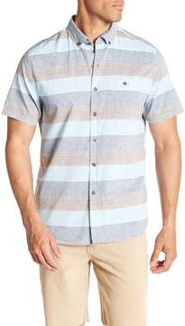 Michael Bastian Horizontal Stripe Short Sleeve Shirt