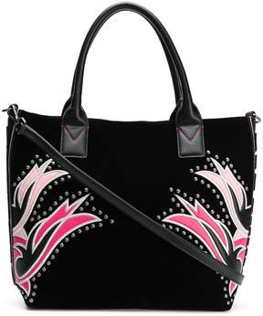 Pinko square embroided tote bag
