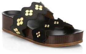 Chloé Lauren Leather Slides