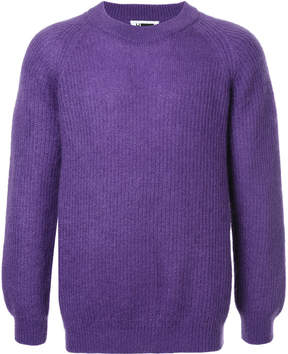 H Beauty&Youth ribbed crew neck sweater