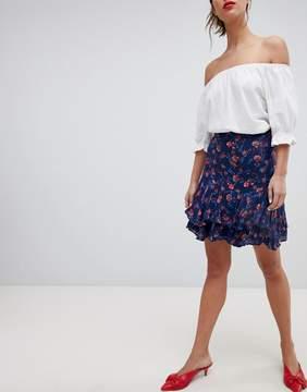 Esprit All Over Floral Print Mini Skirt