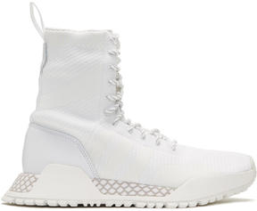 adidas White F-1.3 PK High-Top Sneakers
