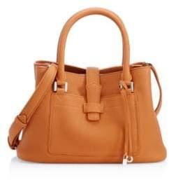 Loro Piana Mini Bellevue Leather Satchel