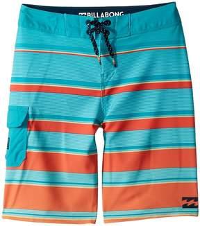 Billabong Kids All Day X Stripe Boardshorts Boy's Swimwear