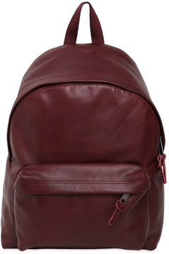 24l Padded Leather Backpack