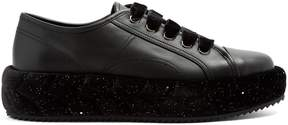 Marco De Vincenzo Plaited-detail leather low-top trainers